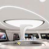 玻璃钢沙盘造型柱装饰深圳星河地产展厅