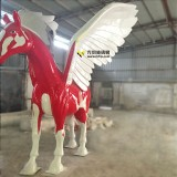 玻璃钢飞马雕塑象征长春新华联开拓创新