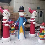 广州玻璃钢圣诞人偶雕塑