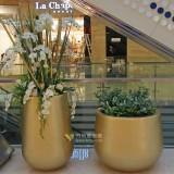 天津玻璃钢景观组合花盆大型商场经典款