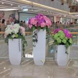 黄骅玻璃钢落地组合式花盆商场美陈的选择