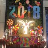 玻璃钢七彩棒棒糖雕塑新年摆件装饰深圳福田大厦