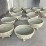 玻璃钢仿砂岩花盆绿化广东惠州别墅户外环境