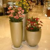 吉林玻璃钢商场组合花盆