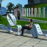 江西玻璃钢皮尺造型休闲椅定制