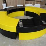 云南玻璃钢商场圆形坐凳