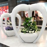 黑龙江商场玻璃钢室内景观花盆