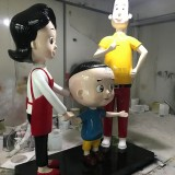 深圳青少年创新教育基地玻璃钢卡通形象雕塑