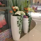 江苏仪征宝能城市广场玻璃钢组合花瓶