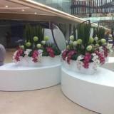 重庆玻璃钢四叶造型花盆休闲椅