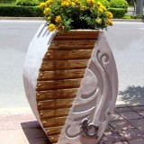 陕西玻璃钢创意景观花盆