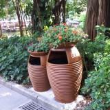 江西玻璃钢垃圾桶组合花盆