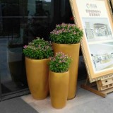 吉林玻璃钢金色组合花瓶