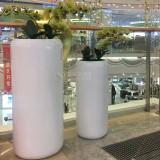 玻璃钢落地式组合花瓶湖南商场开业美陈的选择