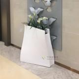 玻璃钢S形花盆广东商场美陈创意花盆定制厂家