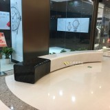 玻璃钢弧形坐凳家具装饰海南免税购物中心