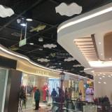 湖南岳阳步步高商场玻璃钢荷叶鲤鱼吊饰美如画