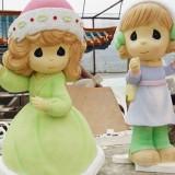 安徽玻璃钢卡通娃娃雕塑