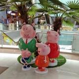 玻璃钢卡通猪雕塑大流量IP深圳商场引进受追捧