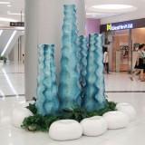 贵州玻璃钢创意景观花瓶