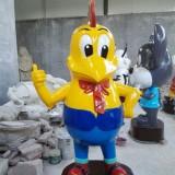 河北玻璃钢卡通公鸡雕塑
