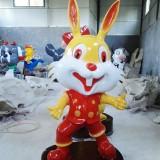 四川玻璃钢生肖兔卡通雕塑