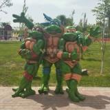 玻璃钢卡通龟雕塑摆件增添海南景区卡通氛围