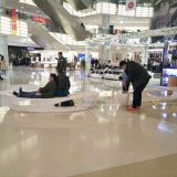 玻璃钢月亮造型休闲椅时尚装饰安徽购物广场