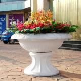 陕西户外广场玻璃钢花盆