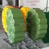 玻璃钢月饼造型雕塑形象仿真提前为中秋造势