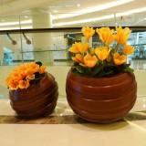 香港购物中心玻璃钢艺术花钵