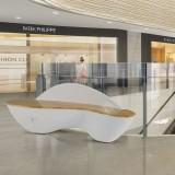 澳门商场玻璃钢公共休息椅