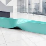 甘肃商场玻璃钢扭曲条形坐凳