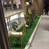 江西商场玻璃钢几何钻石切面动物雕塑摆件