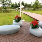 河南玻璃钢休闲组合花盆