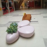 商场玻璃钢水滴椅