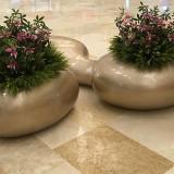 福建玻璃钢创意花盆坐凳