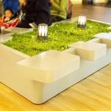 新疆玻璃钢多人位创意坐凳