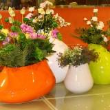国外玻璃钢创意组合花盆