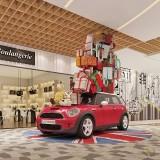 仿真玻璃钢汽车雕塑模型广东大型商场DP点美陈