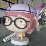 广东玻璃钢卡通女孩学习形象雕塑提升文化氛围