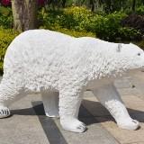 辽宁玻璃钢北极熊仿真雕塑