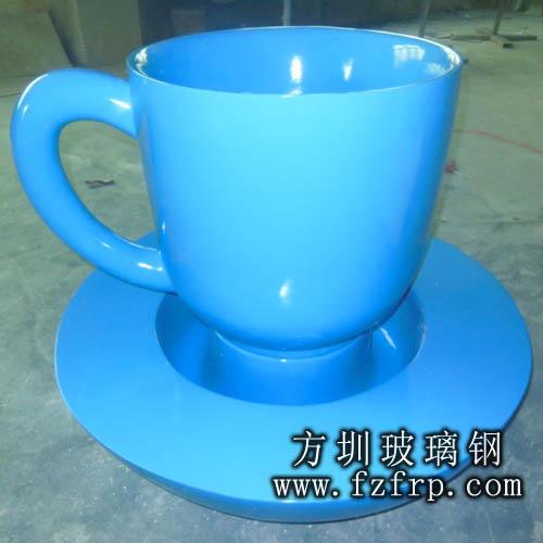 玻璃钢茶杯造型花盆