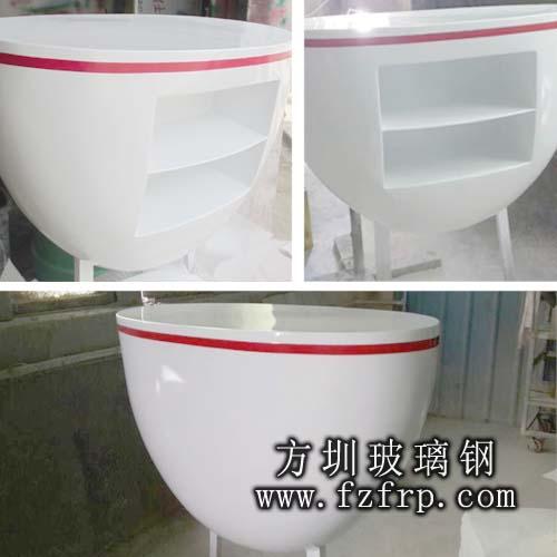 北京玻璃钢定制前台多角度拍摄图