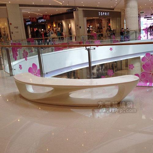 商场玻璃钢美陈休闲椅