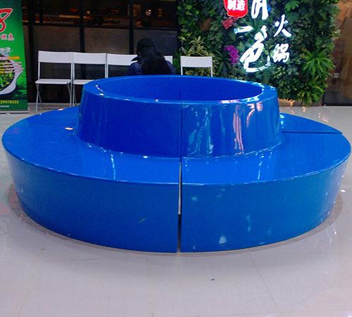 龙华佳华商场玻璃钢休闲椅