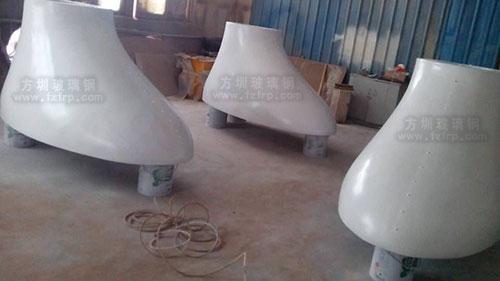 玻璃钢装饰灯罩工厂生产图