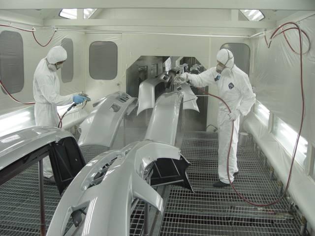 玻璃鋼制品噴漆車間