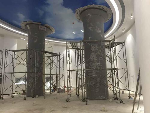 玻璃钢装饰柱施工图