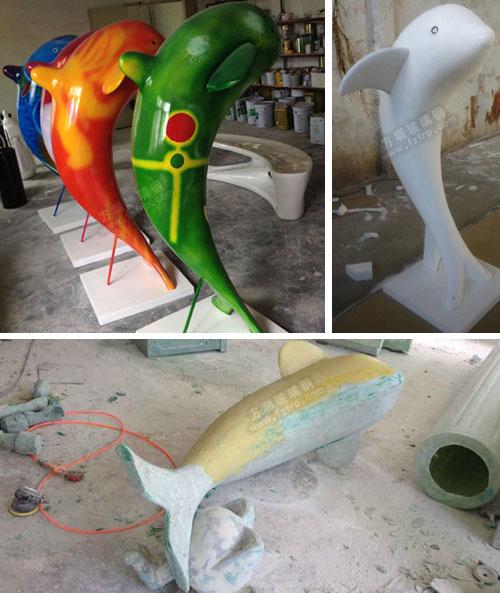 玻璃钢海豚模型工厂生产图